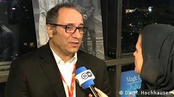 Film festival director, Reza Mirkarimi, speaking with Deutsche Welle