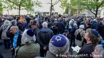 Demonstration against anti-Semitism in Berlin in April 2018