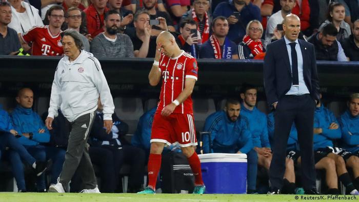 Arjen Robben's night ended early