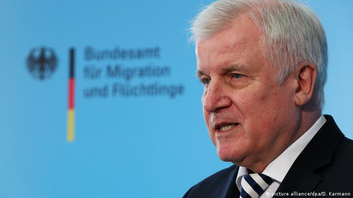 German interior minister Horst Seehofer (picture alliance/dpa/D. Karmann)