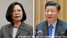 links Taiwanese President Tsai Ing-wen attends a news conference to announce the new Presidential Office secretary-general in Taipei, Taiwan April 11, 2018. REUTERS/Tyrone Siu rechts (180421) -- BEIJING, April 21, 2018 (Xinhua) -- Chinese President Xi Jinping, also general secretary of the Communist Party of China Central Committee, chairman of the Central Military Commission, and head of the Central Cyberspace Affairs Commission, speaks at a national conference on the work of cybersecurity and informatization held from April 20 to 21 in Beijing, capital of China. (Xinhua/Li Tao) (mp) | Keine Weitergabe an Wiederverkäufer.
