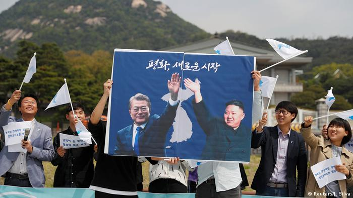 Korea - Pro-Unification-Rallye (Reuters/J. Silva)