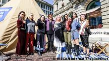 Indigenous Women's Divestment Delegation Europa Credit Suisse Bank (WECAN International/Boethius)