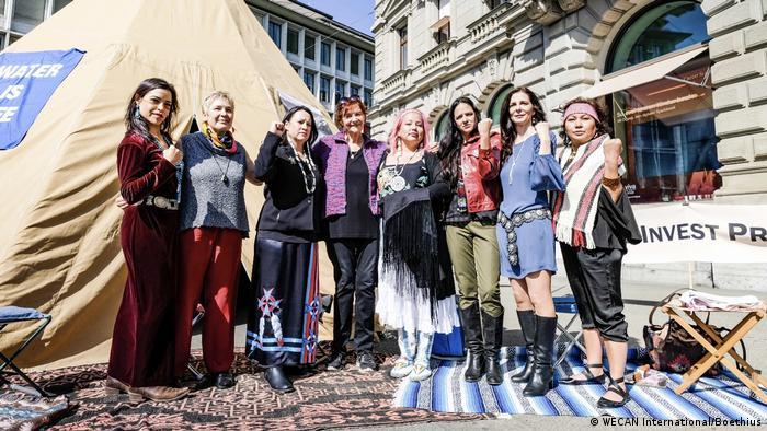Indigenous Women's Divestment Delegation Europa Credit Suisse Bank