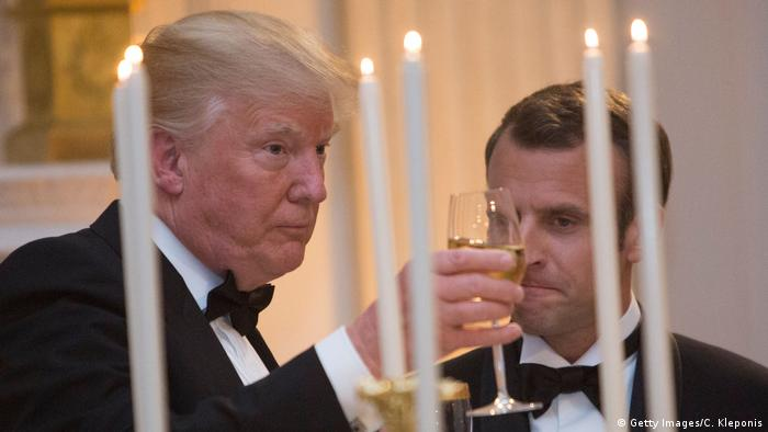 USA Washington - Donald Trump trifft Emmanuel Macron - Gala (Getty Images/C. Kleponis)