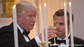 USA Washington - Donald Trump trifft Emmanuel Macron - Gala (Getty Images/C. Kleponis)