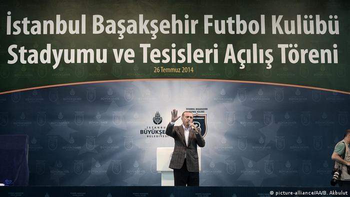 der trkische staatsprsident recep tayyip erdogan bei der stadionerffnung in basaksehir - Bewerbung Auf Trkisch