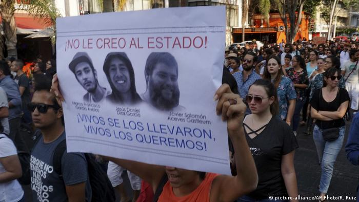 Poster of the missing students