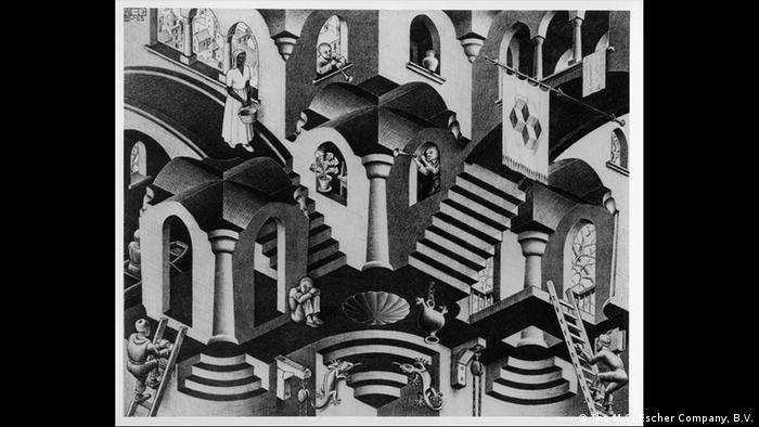 'Convex and Concave' combines two types of surface curvature (Photo: The M.C. Escher Company, B.V.)