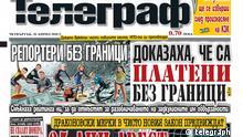 Screemshot - bulgarische Zeitung telegraph ### NUR ZUR AKTUELLEN BERICHTERSTATTUNG ÜBER DIE ZEITUNG ###