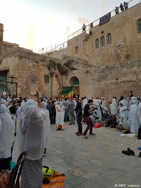 Israel Deir Es-Sultan - Kloster auf dem Dach der Grabeskirche in Jerusalem