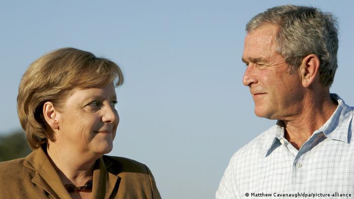 Merkel zu Besuch auf George W. Bushs Ranch in Texas