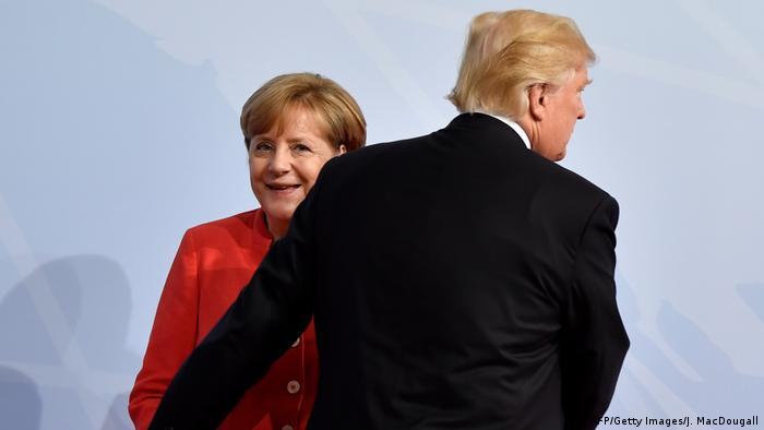Bundeskanzlerin Merkel mit US-Präsident Trump