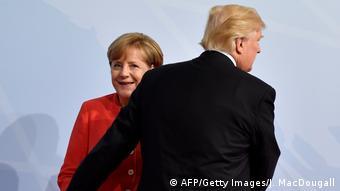 Bundeskanzlerin Merkel mit US-Präsident Trump (AFP/Getty Images/J. MacDougall)
