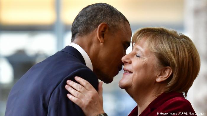 Bundeskanzlerin Merkel mit scheidendem US-Präsident Obama
