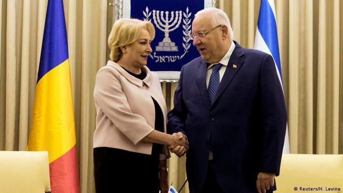 Rumänische Premierministerin Viorica Vasilica Dancila in Israel