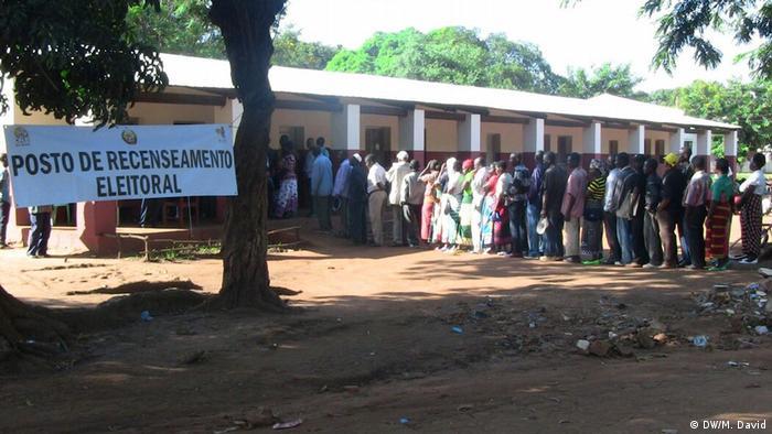 Posto de recenseamento na província do Niassa