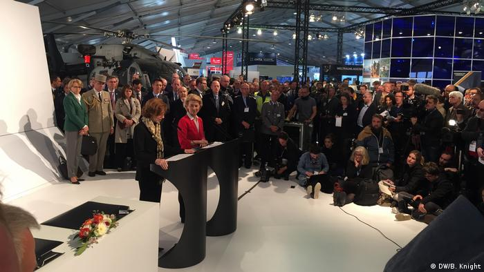Ursula von der Leyen and Florence Parly at the ILA in Berlin