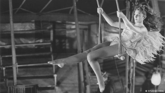 woman performs on a trapeze (STUDIOCANAL)