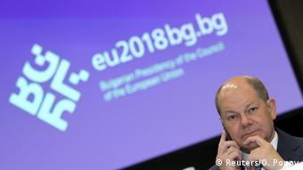 Bulgarien Treffen EU-Finanzminister in Sofia   Olaf Scholz, Deutschland (Reuters/O. Popov)