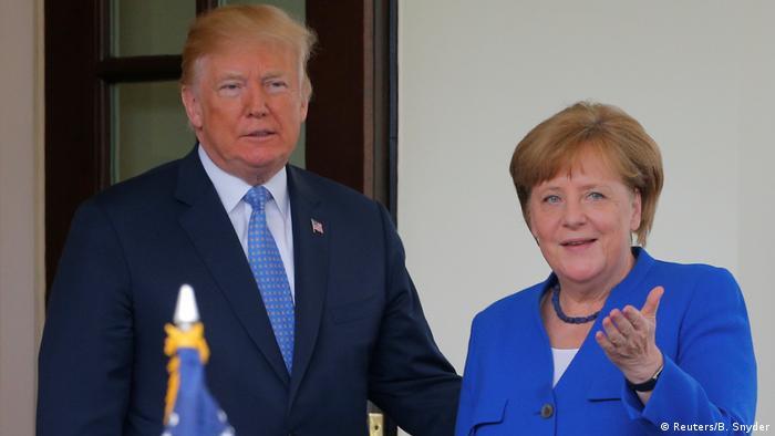 USA Washington | Präsident Donald Trump & Angela Merkel, Bundeskanzlerin (Reuters/B. Snyder)