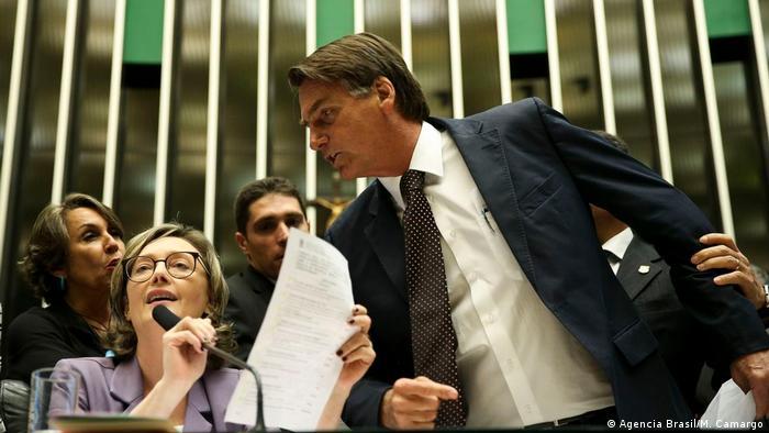 Jair Bolsonaro and Maria do Rosario (Agencia Brasil/M. Camargo)