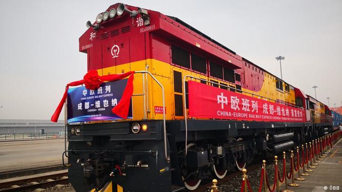 ÖBB Erster direkter Güterzug von China nach Wien (ÖBB)