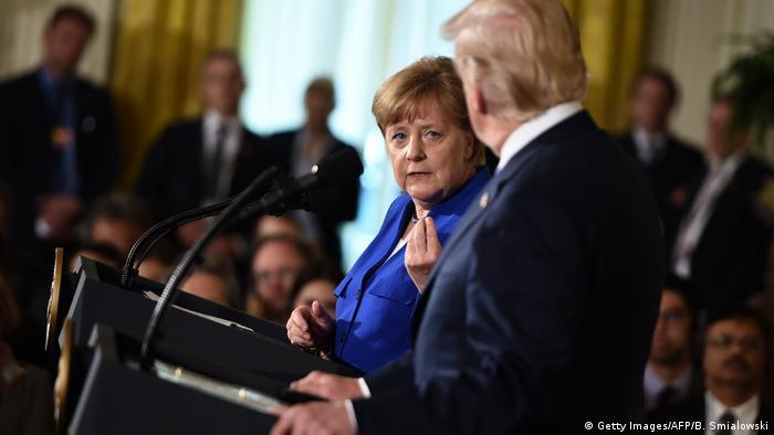 USA Washington | Präsident Donald Trump & Angela Merkel, Bundeskanzlerin
