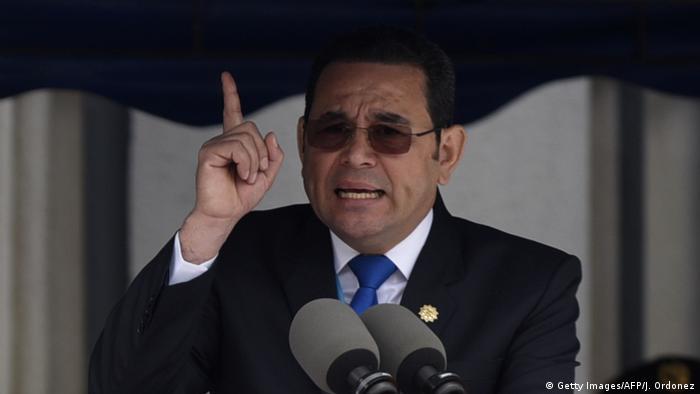Guatemala Präsident Jimmy Morales (Getty Images/AFP/J. Ordonez)
