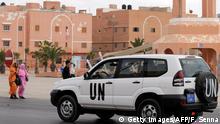 Marokko UN Wagen in Ajun