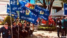 Südkoreanische Nationalisten demonstrieren gegen Moons Annäherung an Nordkorea, Seoul, 28.4.2018