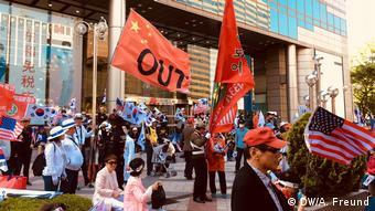 Protest südkoreanischer Nationalisten gegen Entspannungspolitik