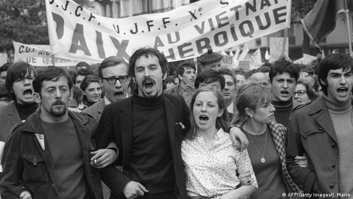 Протести проти війни у В'єтнамі у Парижі, 1 травня 1968 року