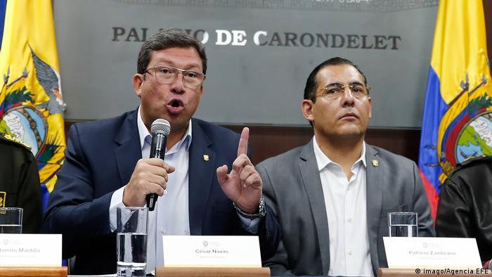 Ecuador Navas Zambrano Journalistenmorde Rücktritt