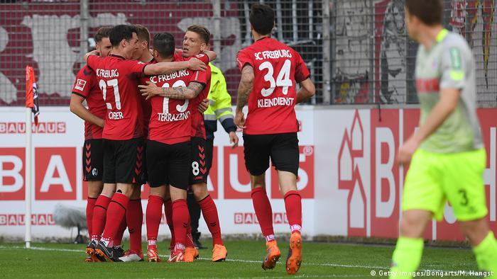 Fußball 1. Bundesliga | SC Freiburg vs 1.FC Köln - Jubel (Getty Images/Bongarts/M. Hangst)