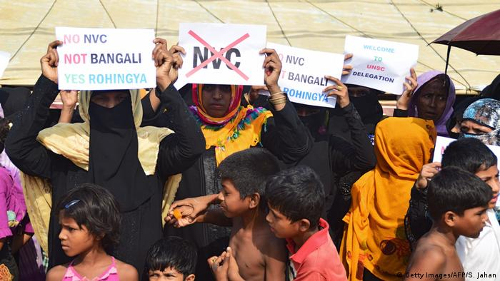 UN-Delegation besucht Rohingya-Flüchtlingscamp in Bangladesch