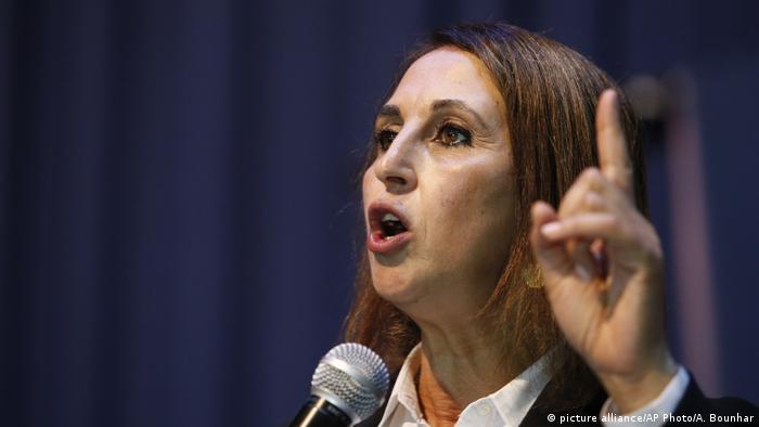Marokkanische Politikerin Nabila Mounib (picture alliance/AP Photo/A. Bounhar)