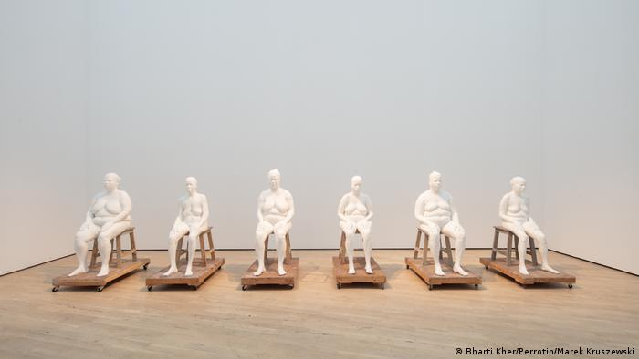 Six female figures on chairs ( Bharti Kher/Perrotin/Marek Kruszewski)