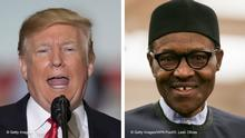 Kombobild Donald Trump und Muhammadu Buhari
