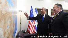 Israel Tel Aviv Mike Pompeo bei Benjamin Netanjahu