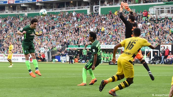 Fußball Bundesliga Werder Bremen vs. Borussia Dortmund | Tor Bremen (Imago/Team 2)