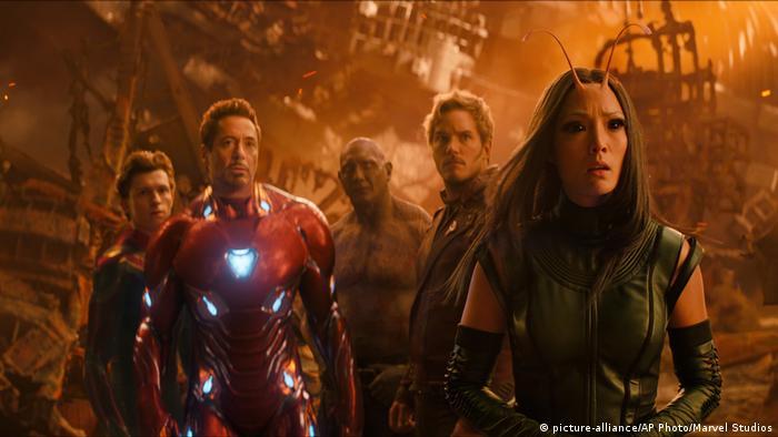 Escena de la película Vengadores: Infinity War.