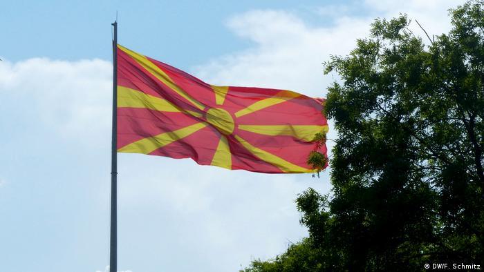 Mazedonien Skopje Fahne (DW/F. Schmitz)