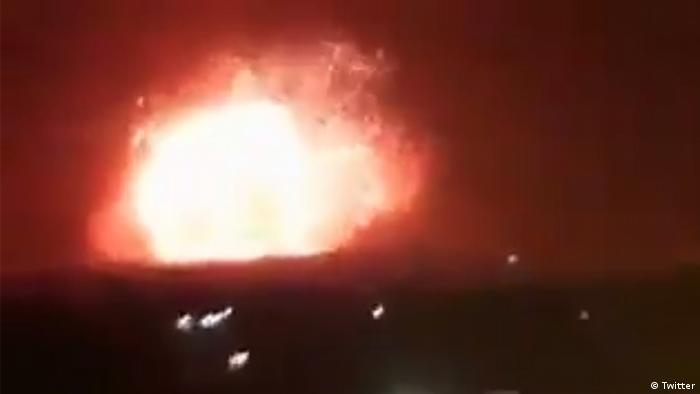 A screenshot showing an explosion