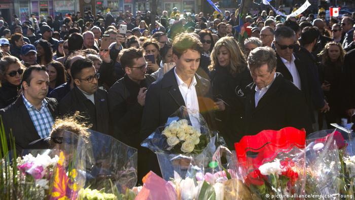 Toronto Trauerfeier Amokfahrt Trudeau