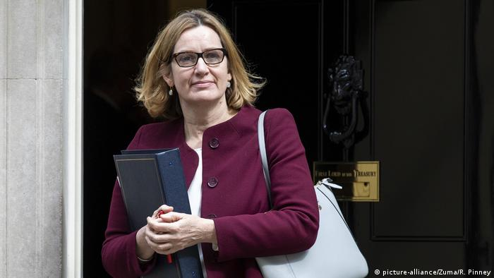 Now Secretary of State for Work and Pensions Amber Rudd leavse a cabinet meeting