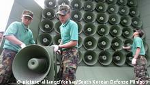 Südkorea stoppt Lautsprecherpropaganda