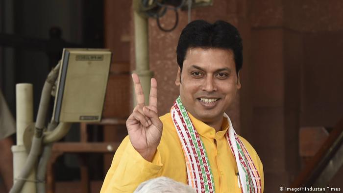 Indien Biplab Kumar Deb Chief Minister Bundesstaat Tripura (Imago/Hindustan Times)