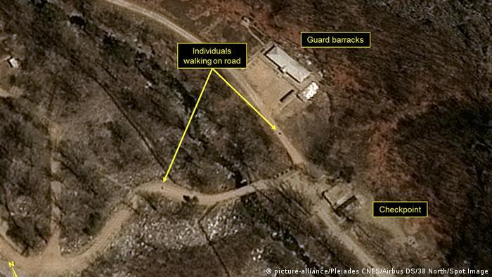 Imagens seriam primeiras provas do desmantelamento do centro de testes nucleares