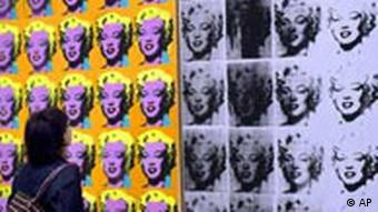 Marilyn Monroe Bild, Andy Warhol Ausstellung in London